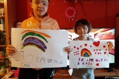 Eloy, 10 years with his sister, from Spain