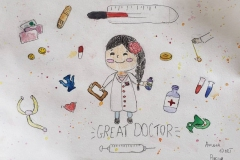 """Great doctors"" 10 year old NF Artist from Russia"
